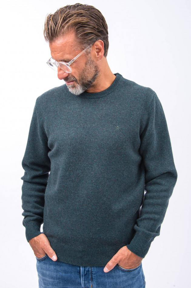 Hackett London Wollpullover in Moosgrün