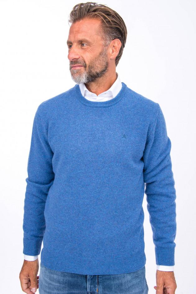 Hackett London Wollpullover in Blau