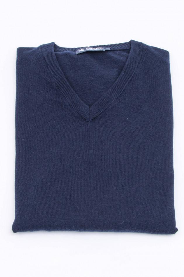 Hackett London Feinstrick-Pullover in Navy