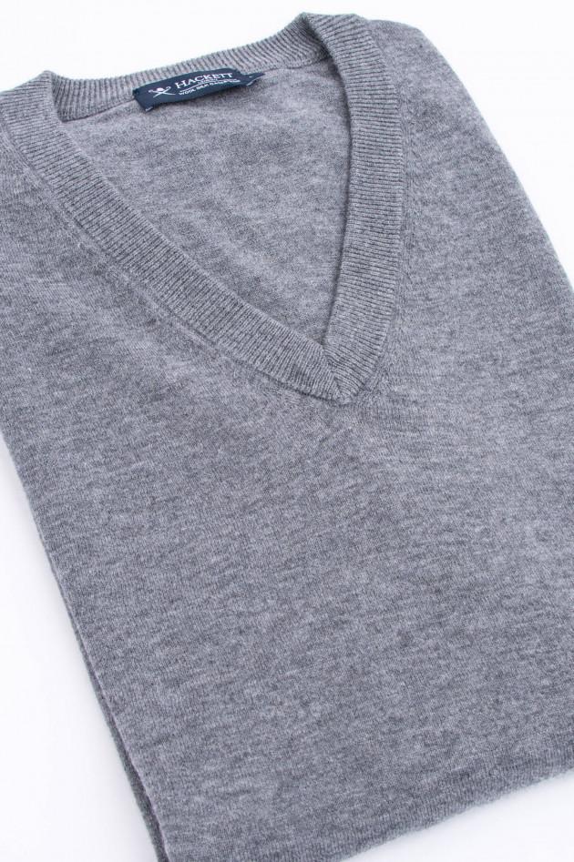 Hackett London Pullover mit V-Ausschnitt in Grau