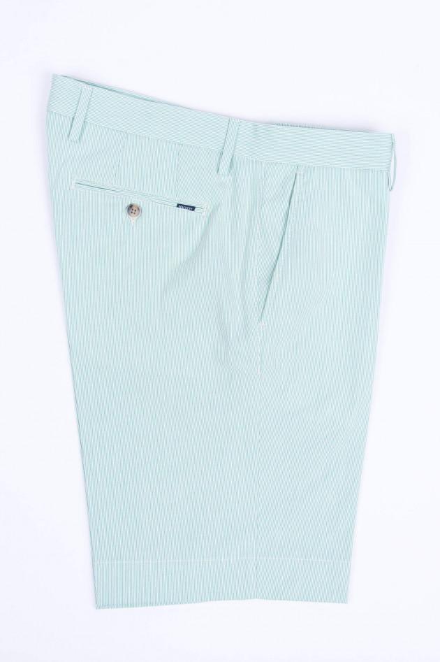 Hackett London Gestreifte Shorts in Mintgrün