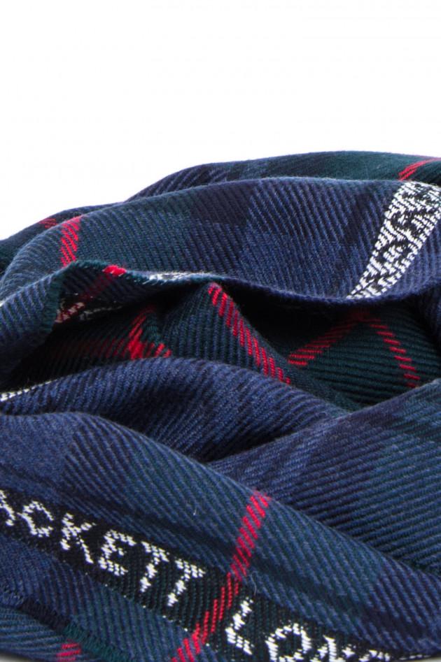 Hackett London Schal aus feiner Wolle in Blau/Grün