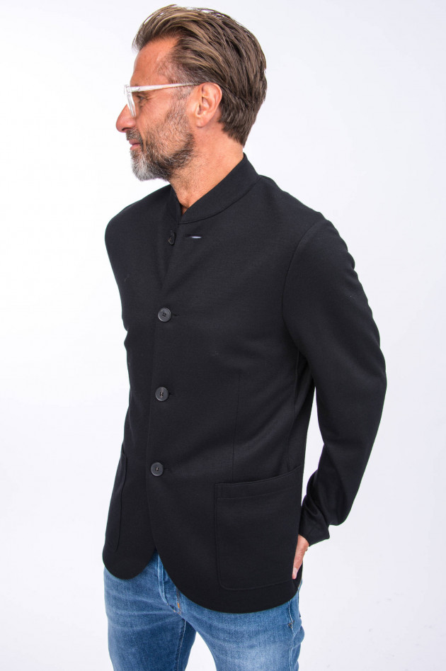 Harris Wharf London Schurwoll-Jacke in Schwarz