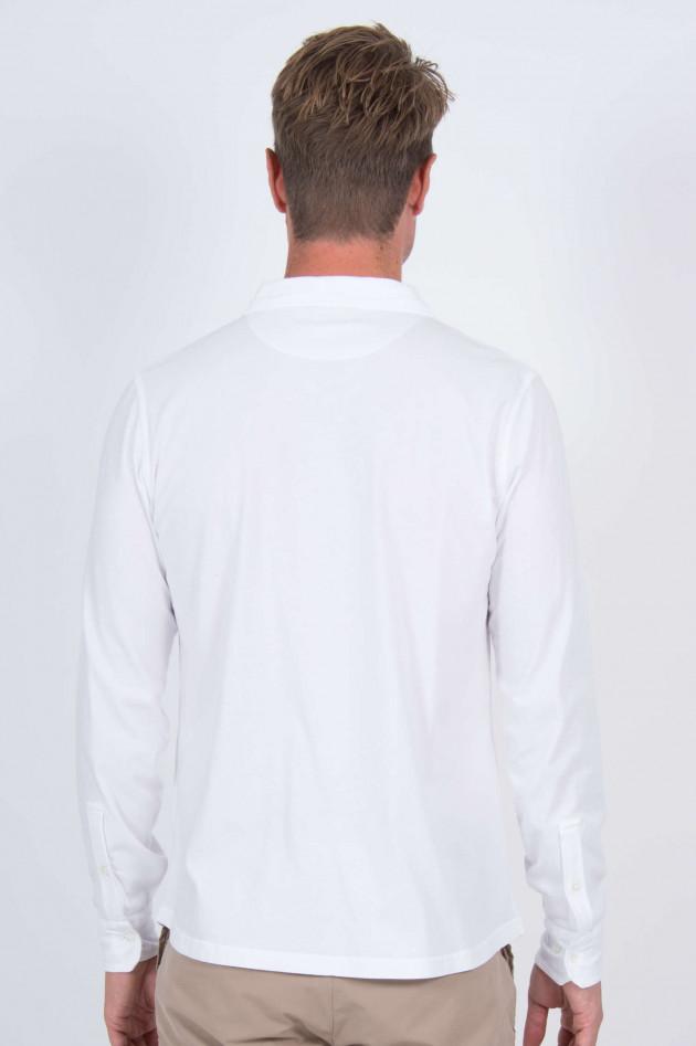 Hartford Jerseyhemd mit Brusttasche in Weiß