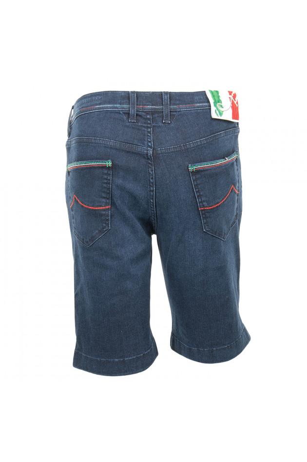 gr ner online shop jacob cohen jeansshort in dunkelblau. Black Bedroom Furniture Sets. Home Design Ideas