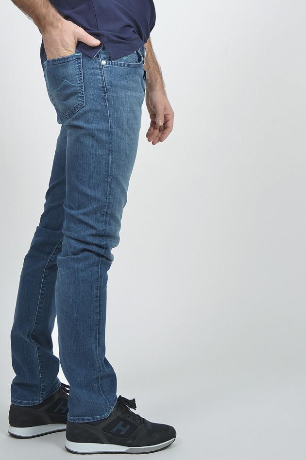 jacob cohen jeans slim fit in blau gruener at. Black Bedroom Furniture Sets. Home Design Ideas