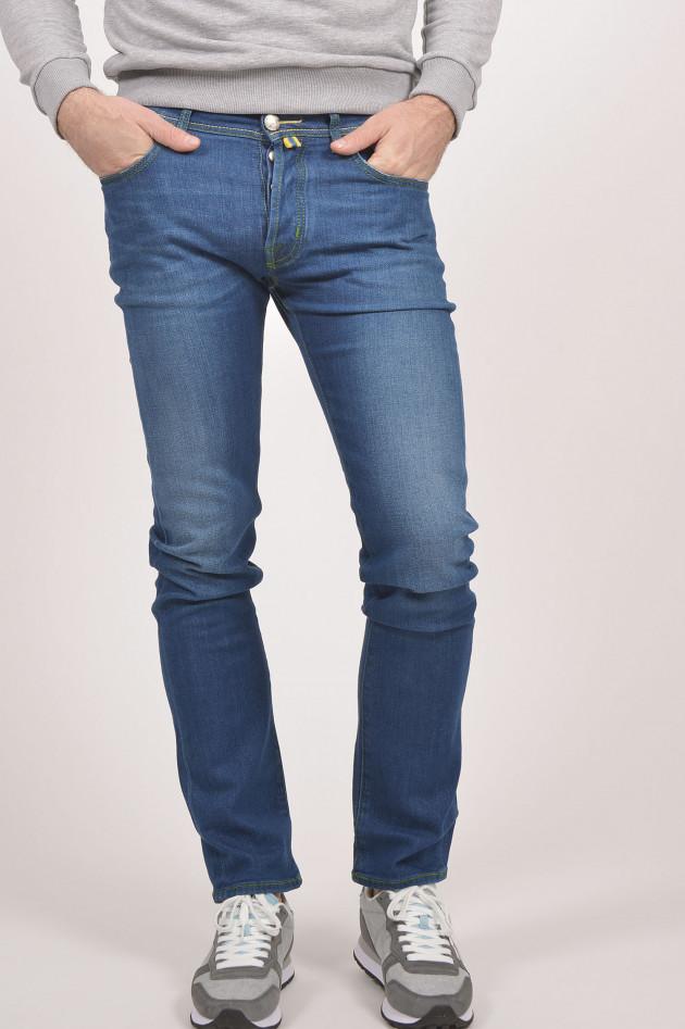 gr ner online shop jacob cohen jeans slim fit in mittelblau. Black Bedroom Furniture Sets. Home Design Ideas