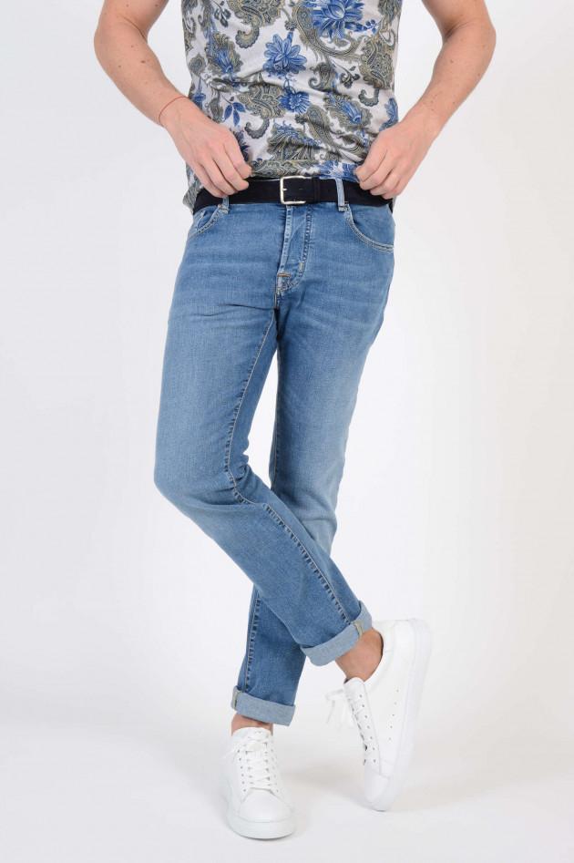 jacob cohen jeans mit heller waschung in blau gruener at. Black Bedroom Furniture Sets. Home Design Ideas