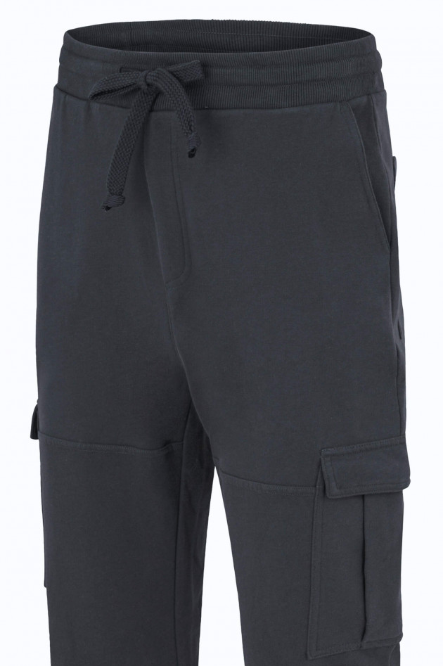 Juvia Jersey Cargo-Sweatpants in Antra