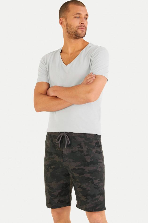 Juvia Jersey-Bermudashorts im Camouflage-Design