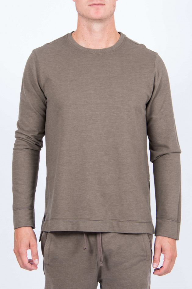Juvia Sweater mit seitlichem Zip in Khaki