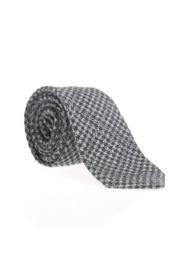Pelo Krawatte in Blau/Grau gemustert