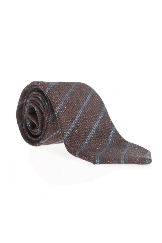 Pelo Krawatte in Braun/Blau gestreift