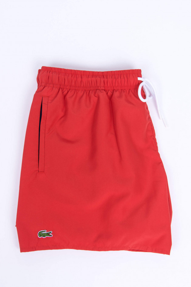 Lacoste Badeshorts in Rot