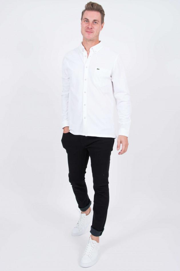 Lacoste Jersey-Hemd in Weiß