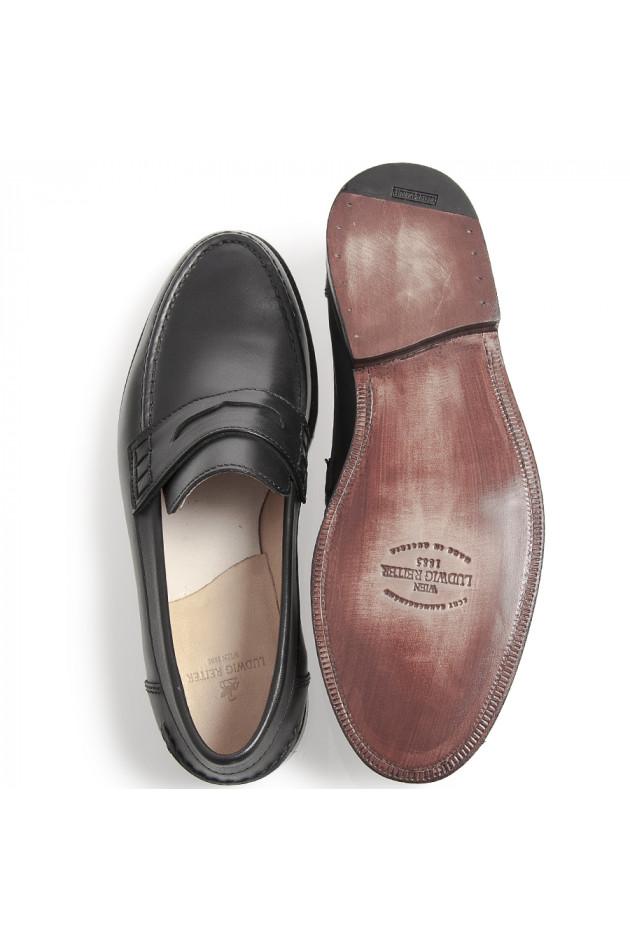 gr ner online shop ludwig reiter loafer schwarz. Black Bedroom Furniture Sets. Home Design Ideas