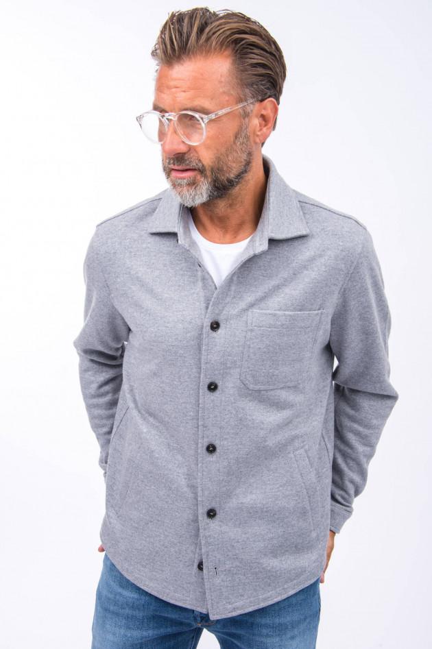 Maurizio Baldassari Woll-Hemd in Grau