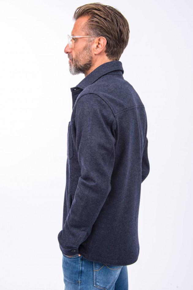Maurizio Baldassari Woll-Hemd in Navy