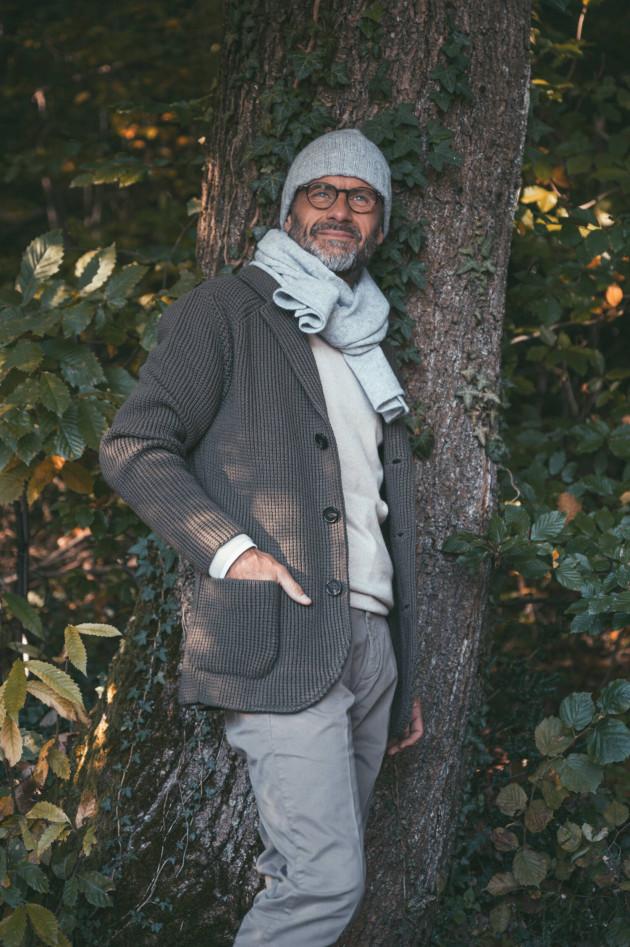 Maurizio Baldassari Grobstrick Jacke in Oliv