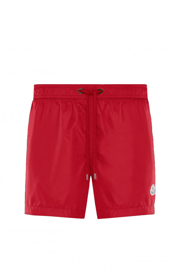 Moncler Badeshort MARE in Rot