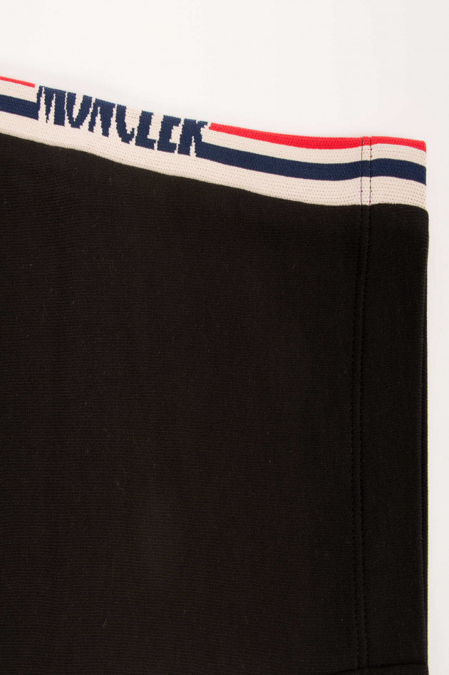 Moncler Sweatpants in Schwarz/Weiß/Rot gemustert