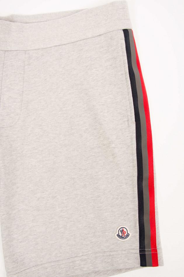 Moncler Jersey-Shorts in Grau meliert