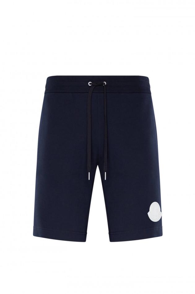 Moncler Kurze Sweatpants in Navy