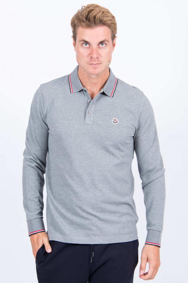 Moncler Langarm-Poloshirt in Grau