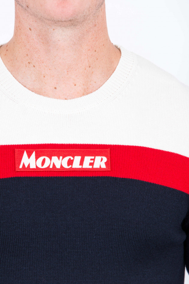 Moncler Strickpullover in Navy/Rot