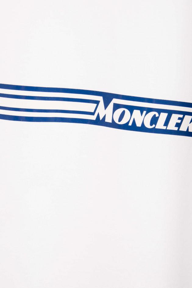 Moncler Baumwollshirt MAGLIA in Weiß/Navy