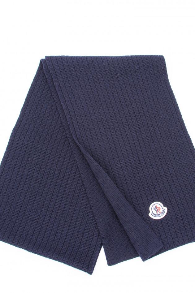 Moncler Schal aus reiner Schurwolle in Navy