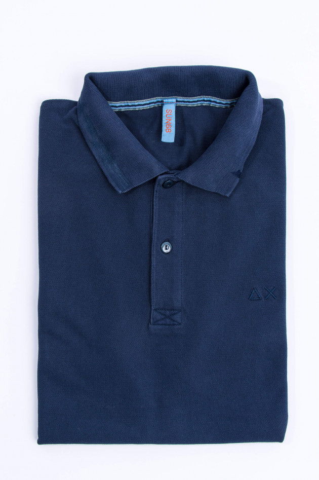 Sun68  Kurzarm Poloshirt in Midnight