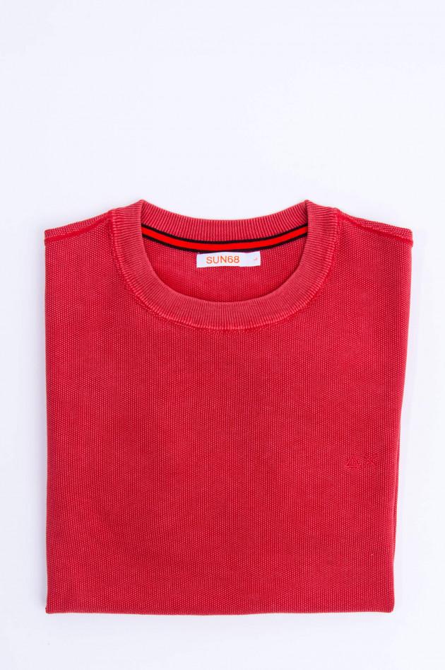 Sun68  Strukturierter Pullover in Rot