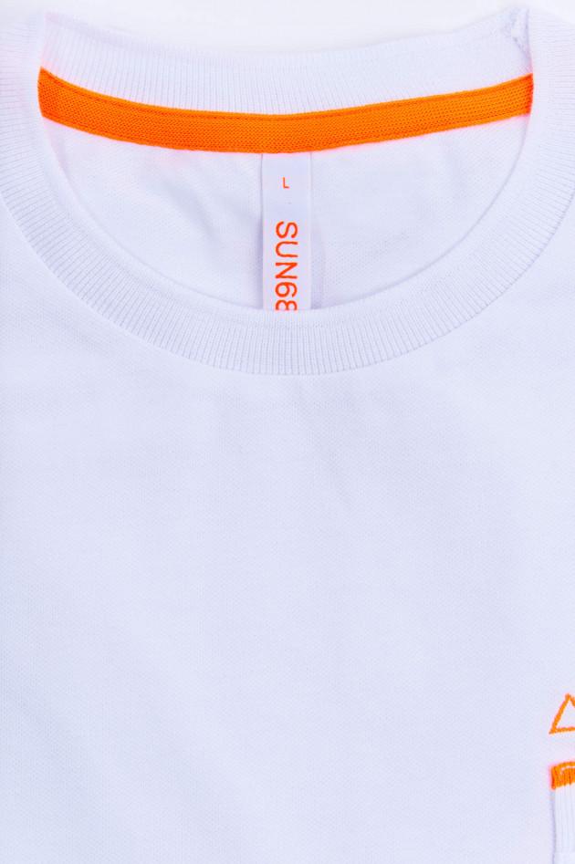 Sun68  Modernes Shirt mit Neon-Details in Weiß