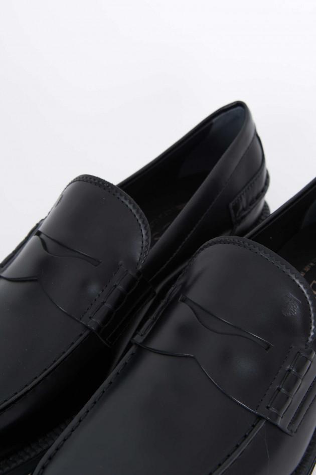 Tod's Leder Loafer in Schwarz