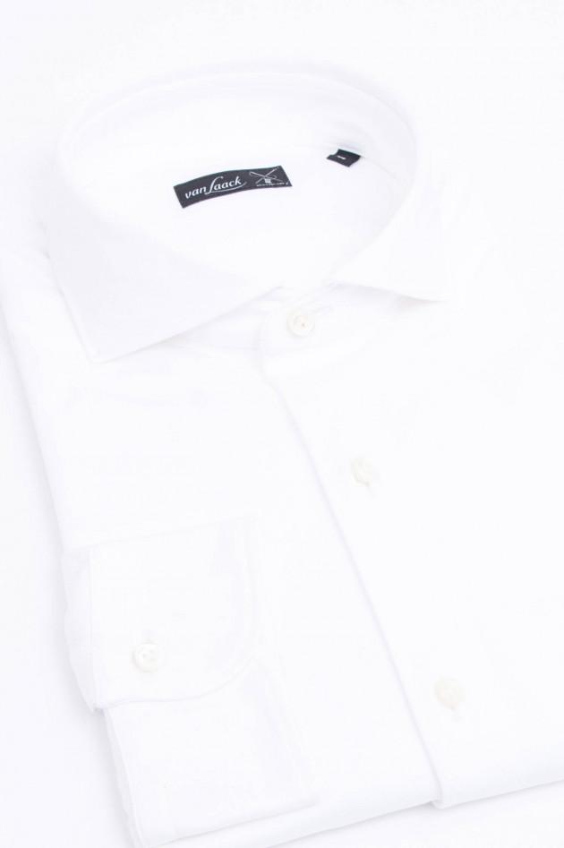 Van Laack Jerseyhemd in Weiß