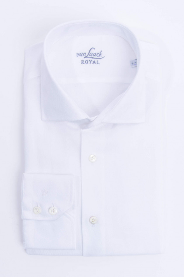 Van Laack Hemd mit Struktur in Weiß