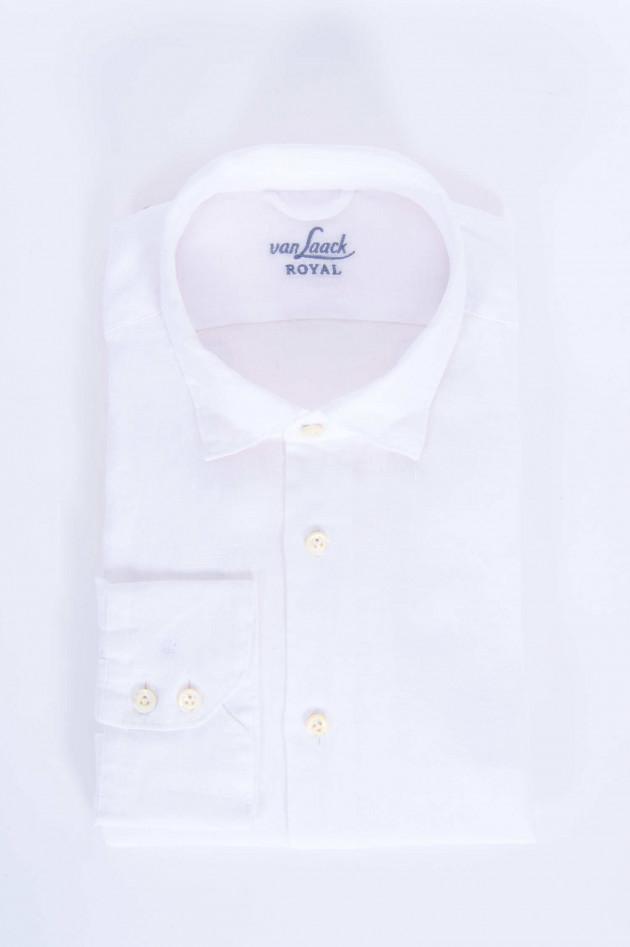 Van Laack Leinenhemd LADON in Weiß