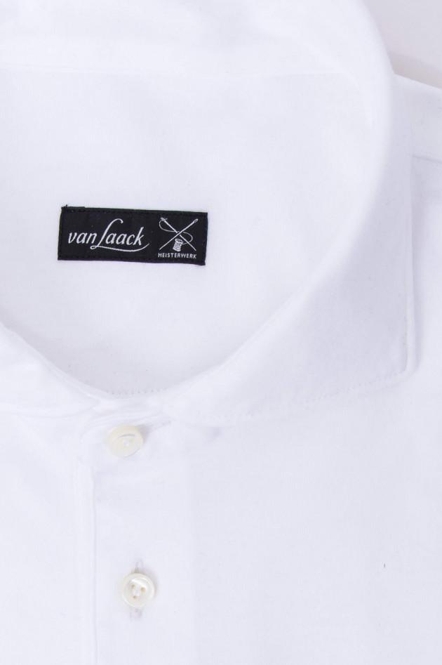 Van Laack Jersey-Polo in Weiß