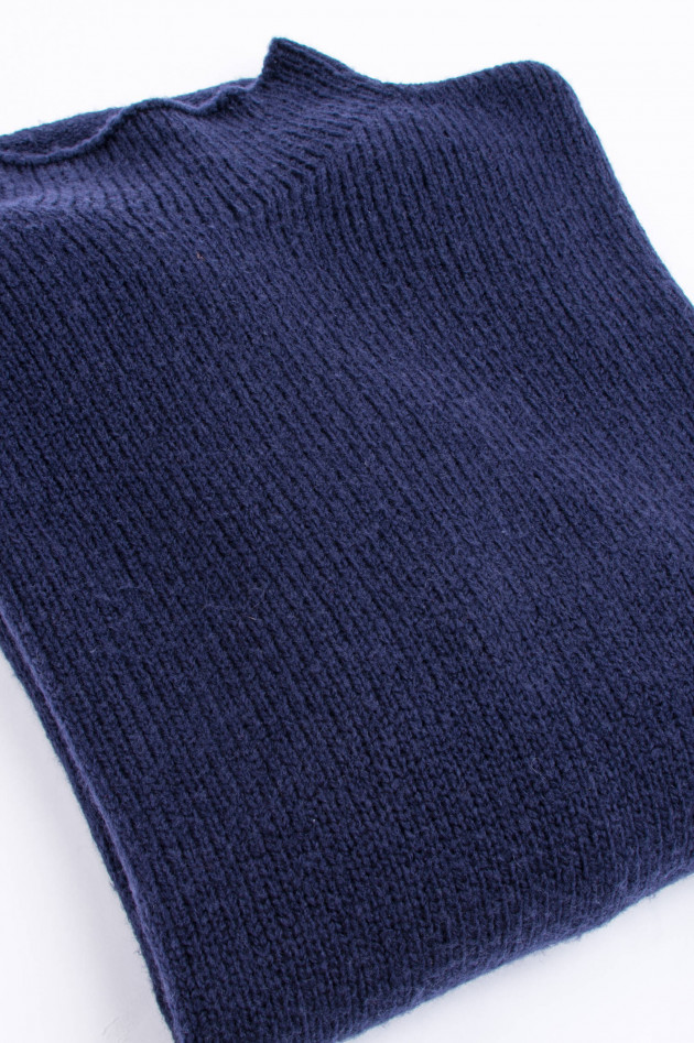 Windsor Pullover mit Stehkragen in Navy