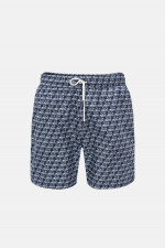 Badehose mit Print in Navy