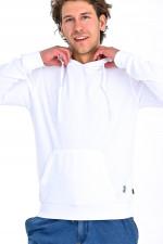 Frottee Hoodie in Weiß