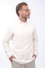 Bouclee Pullover in Weiß