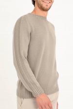 Pullover aus Schurwolle in Taupe