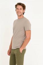 T-Shirt aus Bio-Baumwolle in Taupe