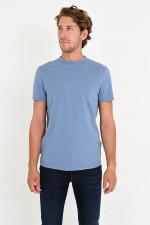 T-Shirt aus Bio-Baumwolle in Meeresblau
