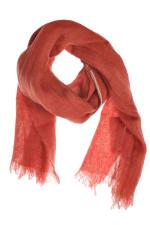 Leinenschal Rot