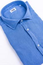 Leinenhemd in Rauchblau