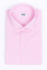 Gestreiftes Hemd in Rosa/Weiß