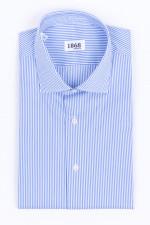 Gestreiftes Hemd in Hellblau/Weiß